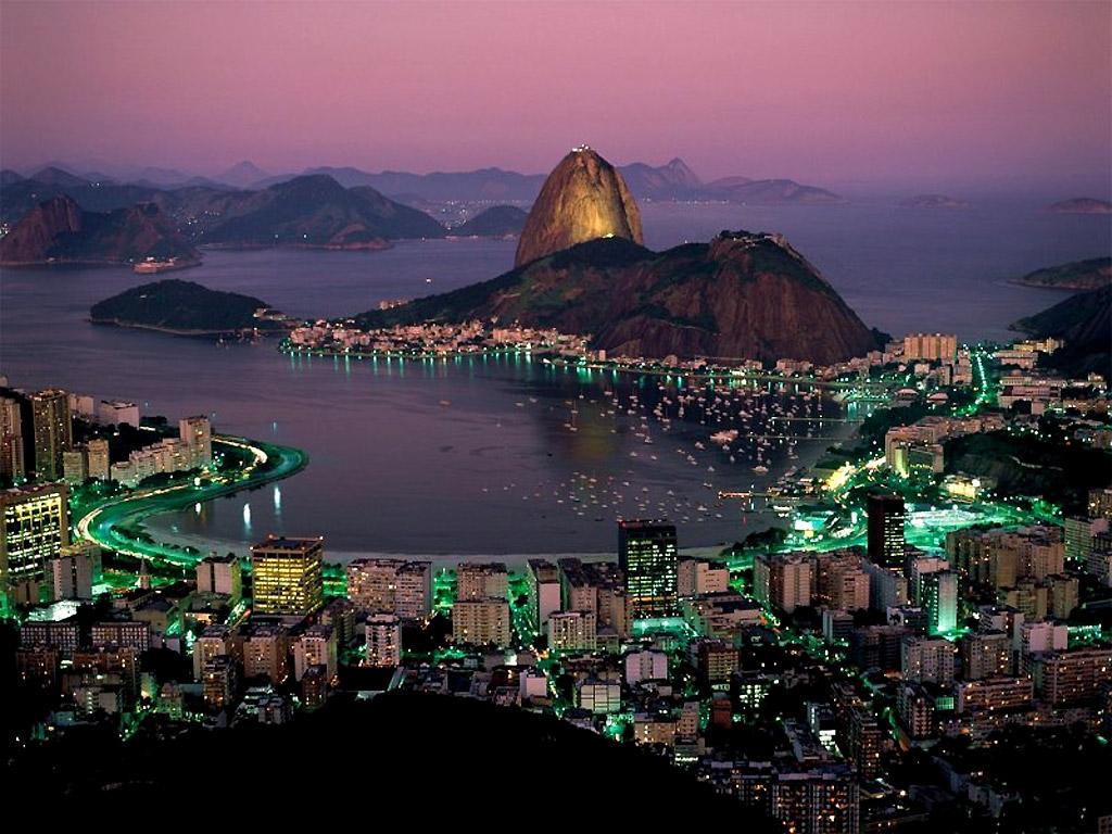 Рио де жанейро ночной город