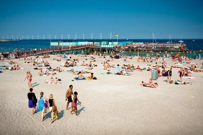 Пляжный отдых в Дании.